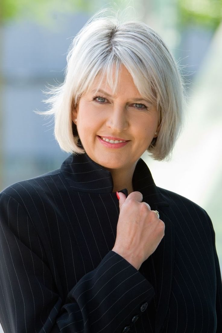 Shoulder Length Hairstyles Gray Hair The Silver Fox Stunning Gray Regarding Widely Used Medium Hairstyles For Salt And Pepper Hair (View 18 of 20)