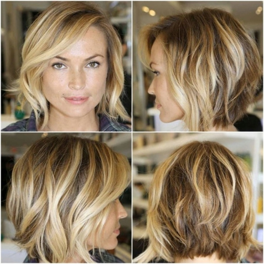 Shoulder Length Messy Bob Hairstyle – Hairstyles 2019 Regarding Most Recently Released Collarbone Bob Haircuts (View 18 of 20)