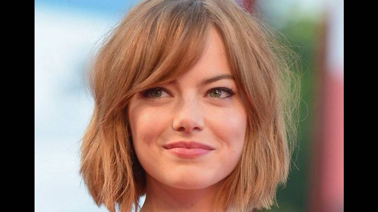 Side Swept Bangs Suits Best For Short Hair Round Face – Youtube With Preferred Medium Haircuts With Bangs For Round Faces (Gallery 20 of 20)