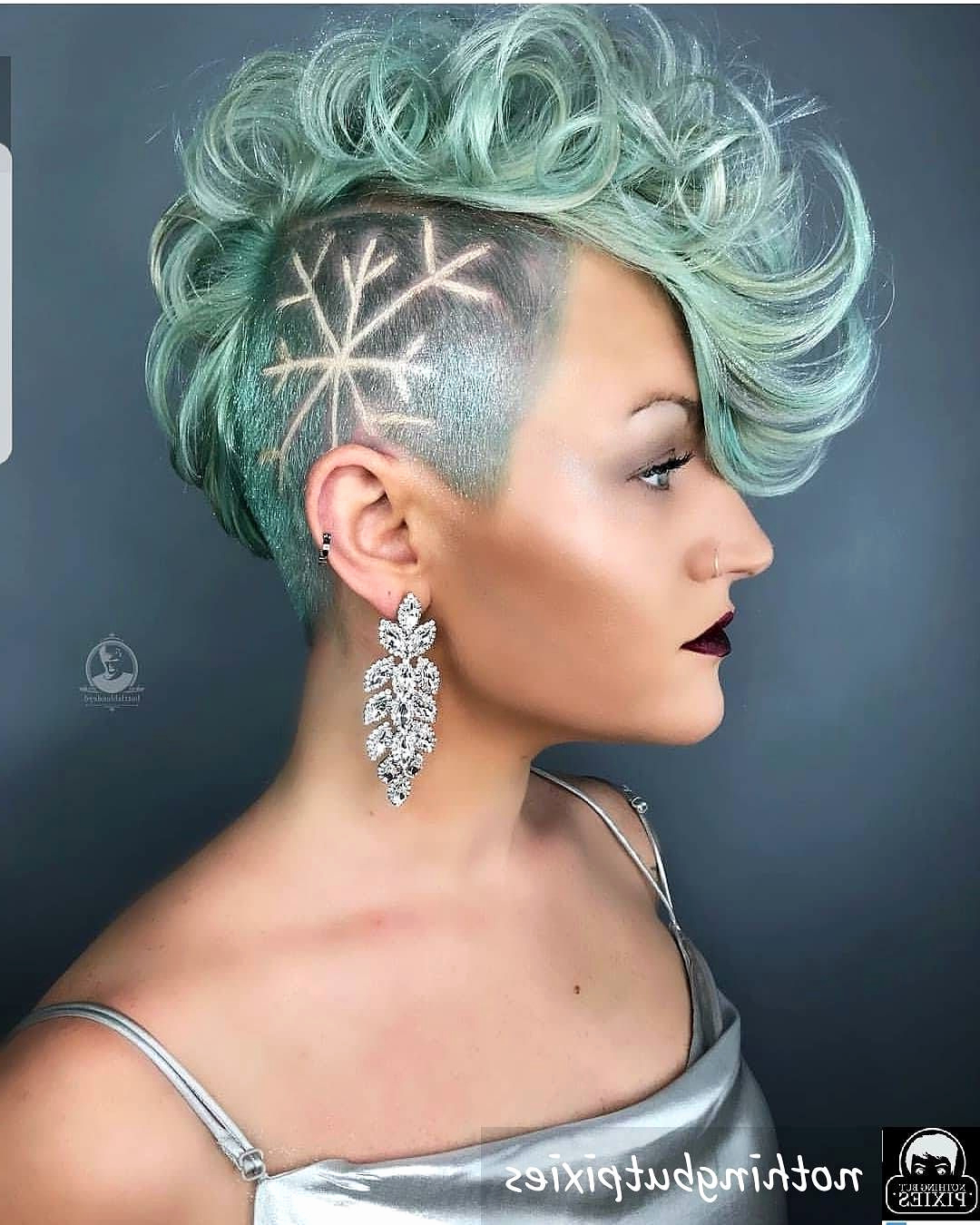 Sides And Back Shaved Haircut New 33 Curly Hairstyles For 2018 Cute Regarding Recent Medium Haircuts With Shaved Sides (Gallery 19 of 20)