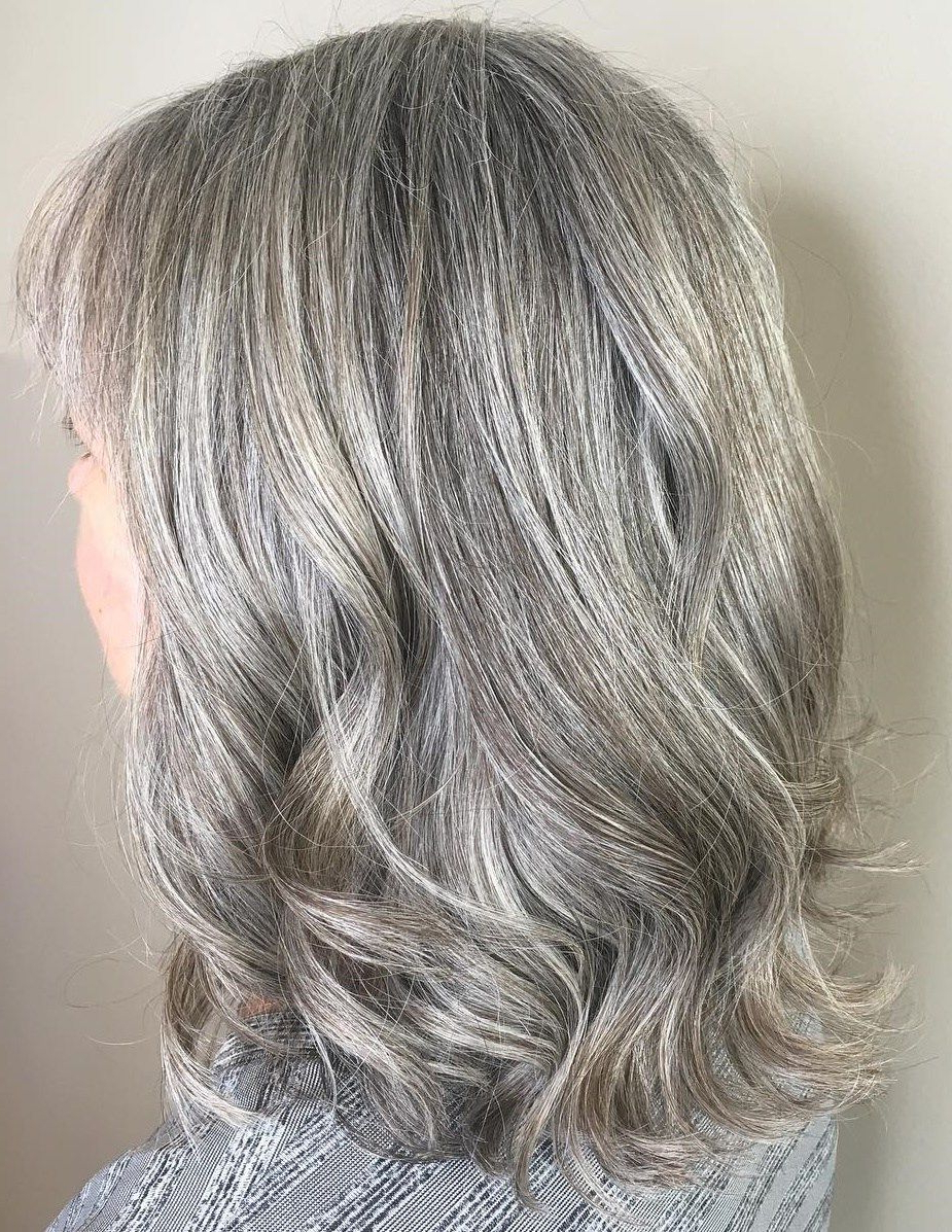 Featured Photo of Gray Hair Medium Hairstyles