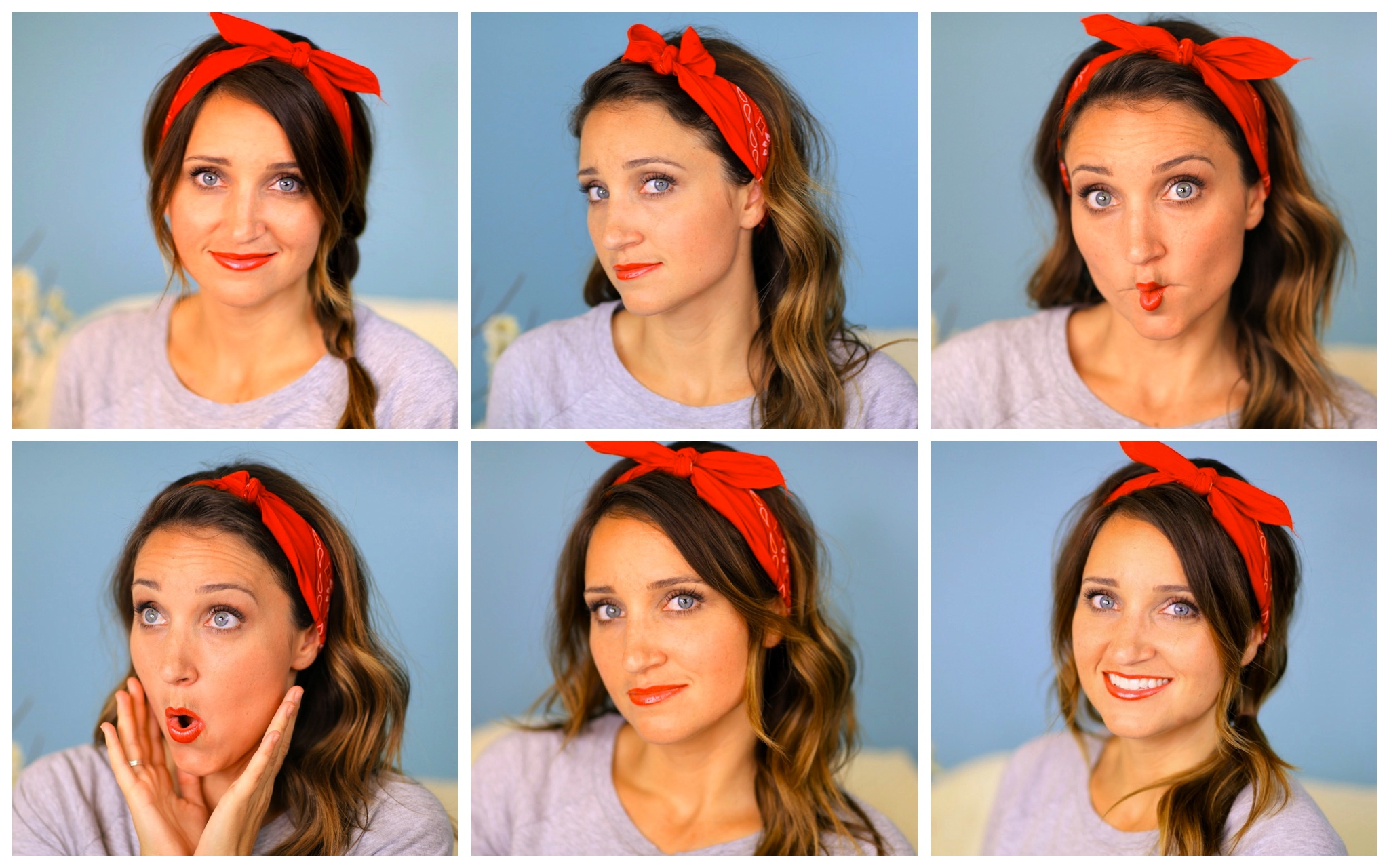 Six Diy 1 Minute Bandana Hairstyles (View 18 of 20)