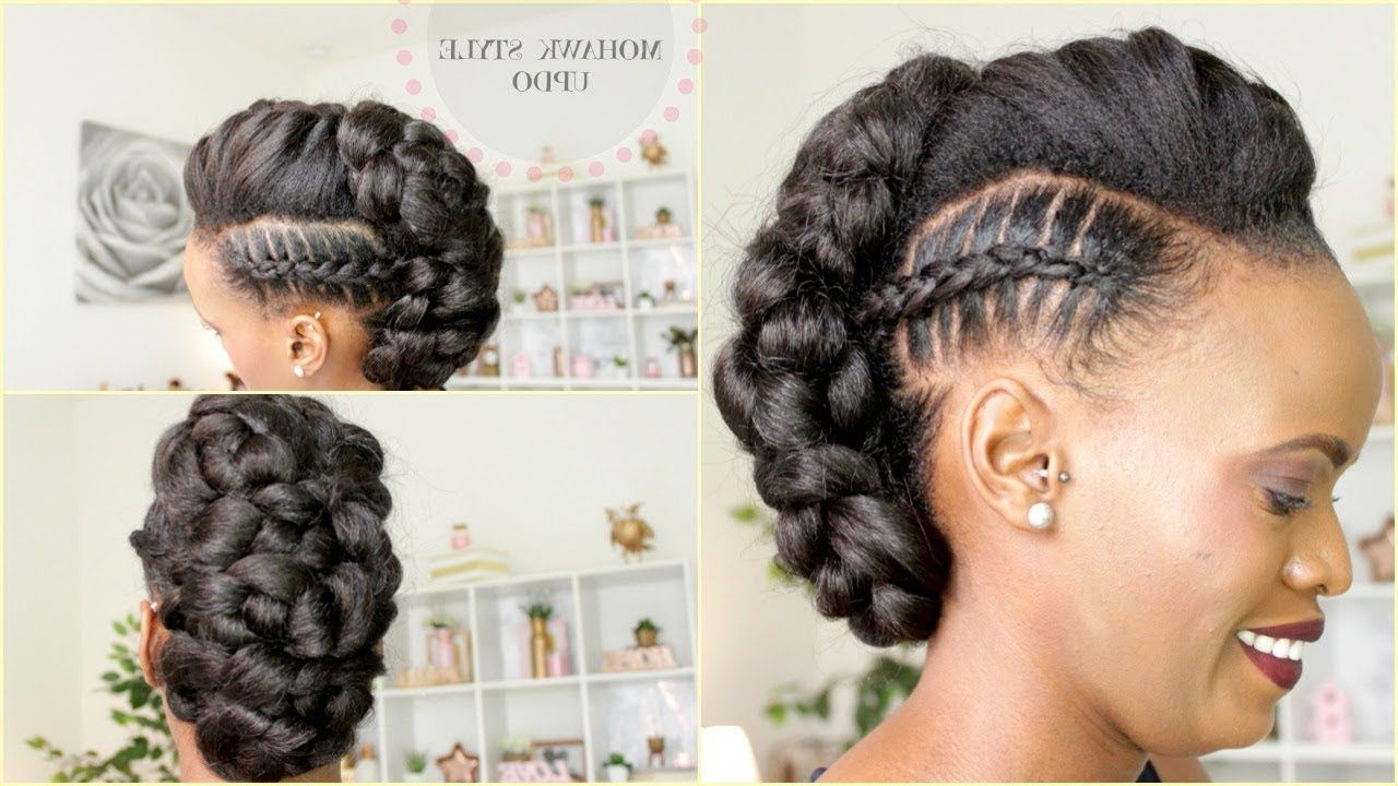 Stitch Braid Mohawk Updo (Gallery 6 of 20)