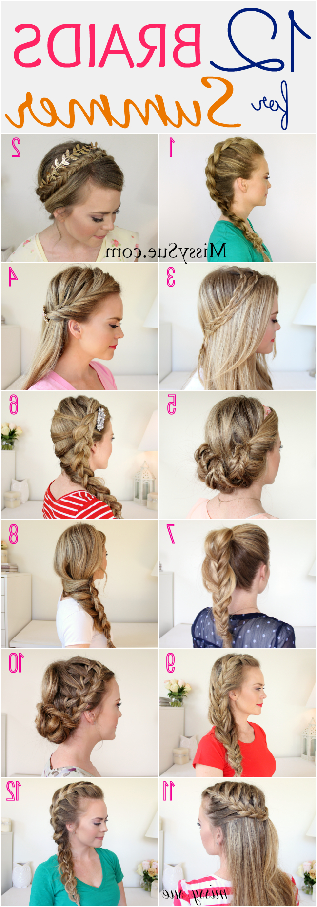 Summer, Summer Braids And Shoulder Length Hair (View 16 of 20)