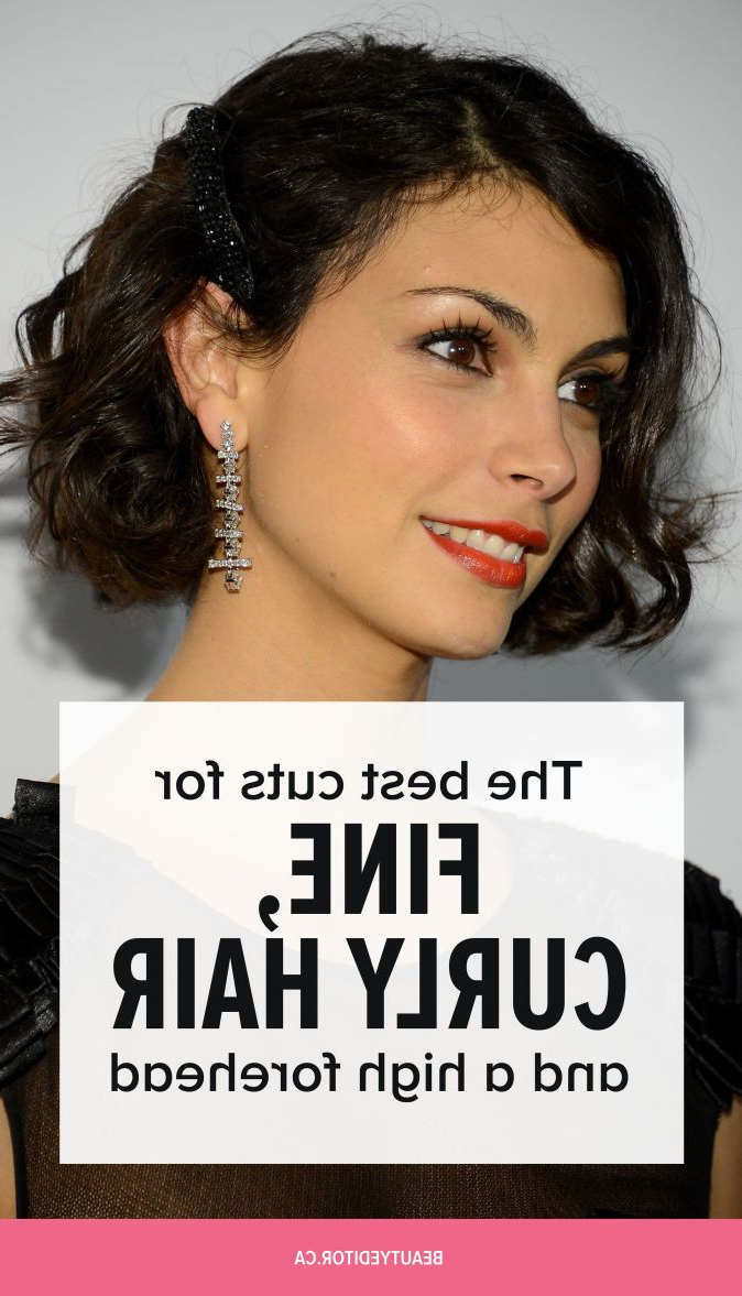 The Best Cuts For Fine, Curly Hair And A High Forehead Inside Trendy Medium Hairstyles For Thin Curly Hair (Gallery 14 of 20)