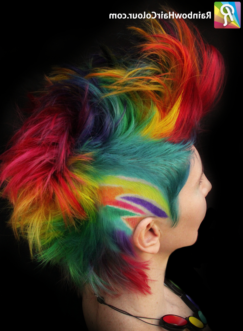 The Trade: Rainbow Mohawk For Rainbow Katwise Inspired Dress Within Well Liked Rainbow Bright Mohawk Hairstyles (View 17 of 20)