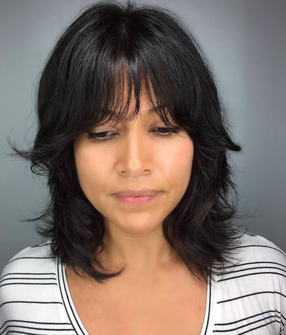 These Are The 7 Best Haircuts For Thin Hair In 2019 With Popular Medium Hairstyles With Bangs For Fine Hair (View 18 of 20)