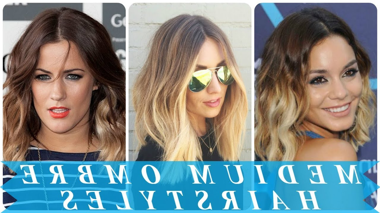 Top 20 Ideas For Ombre Hairstyles For Medium Length Hair – Youtube Intended For Most Popular Ombre Medium Hairstyles (View 19 of 20)