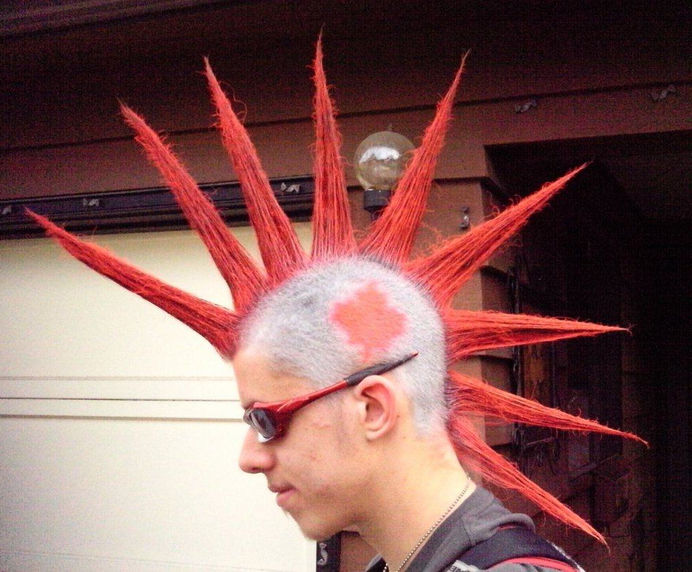 Trendy Gelled Mohawk Hairstyles With 20 Absolute Punky Liberty Spikes For Men – Hairstylecamp (View 20 of 20)