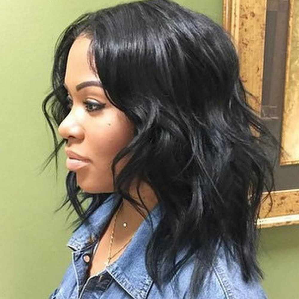 Trendy Medium Haircuts For Round Faces African American With Regard To Best Medium Wavy Weave Hairstyle Black Women (View 17 of 20)