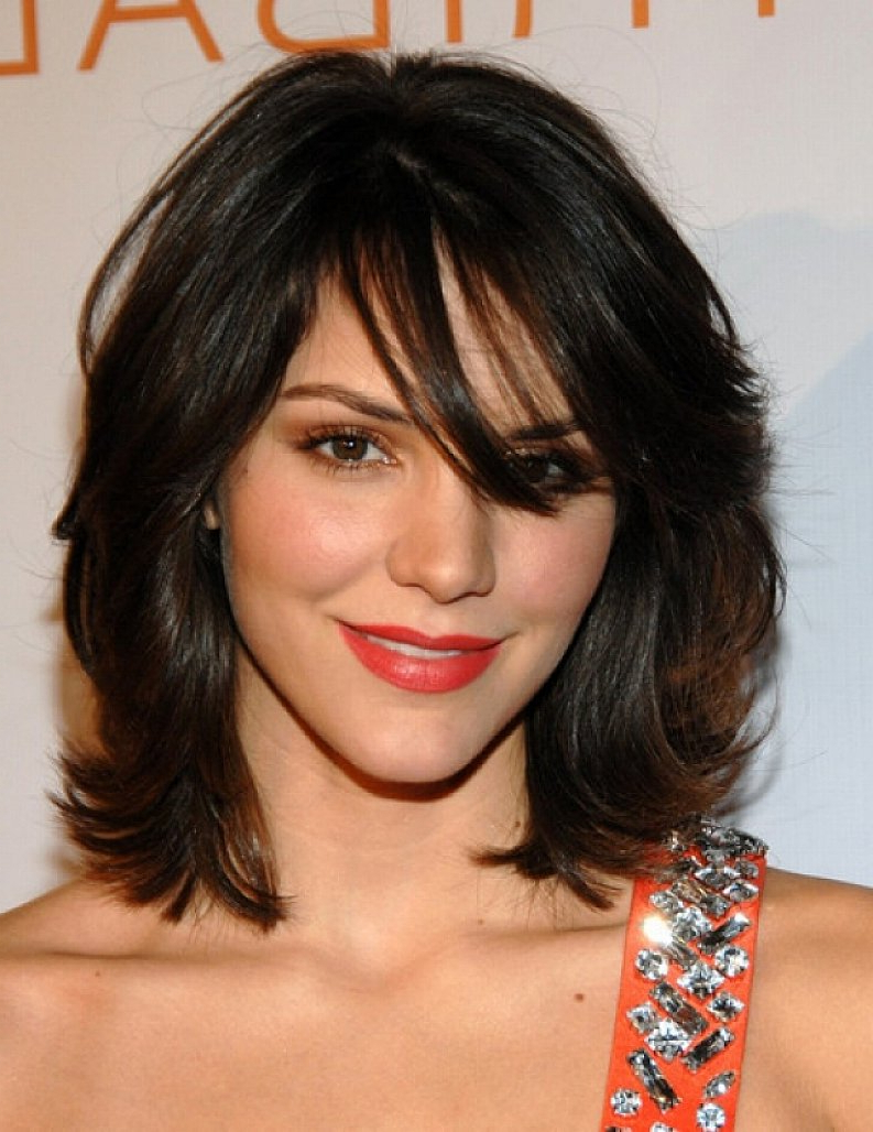 Trendy Medium Haircuts For Wavy Thick Hair With Shoulder Hairstyle : Haircuts For Short Thick Wavy Hair Hairstyles (View 8 of 20)