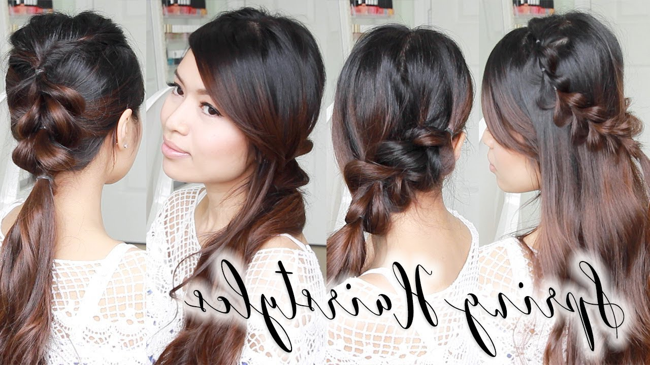 Trendy Medium Hairstyles For Spring Pertaining To Cute & Easy Spring Hairstyles ♥ Braided Hair Tutorial For Long To (View 17 of 20)
