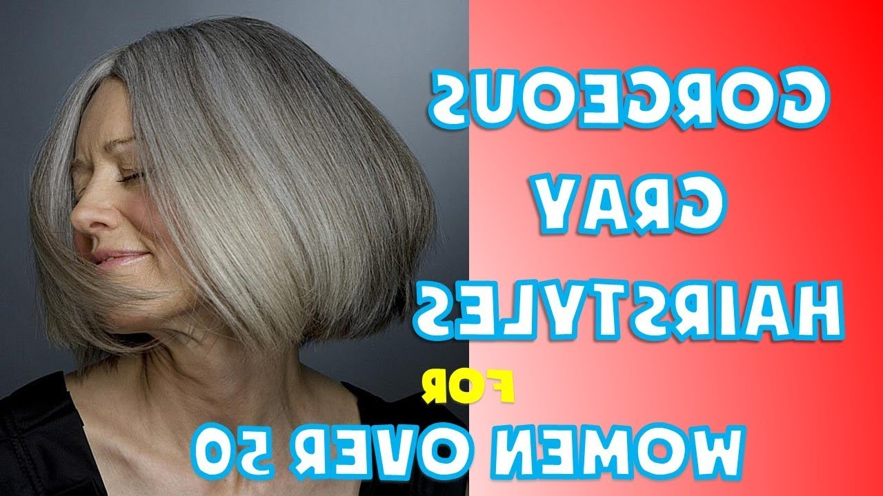 Trendy Medium Hairstyles For Women With Gray Hair Regarding Short, Medium And Long Gray Hairstyles For Women Over 50 – Youtube (View 13 of 20)