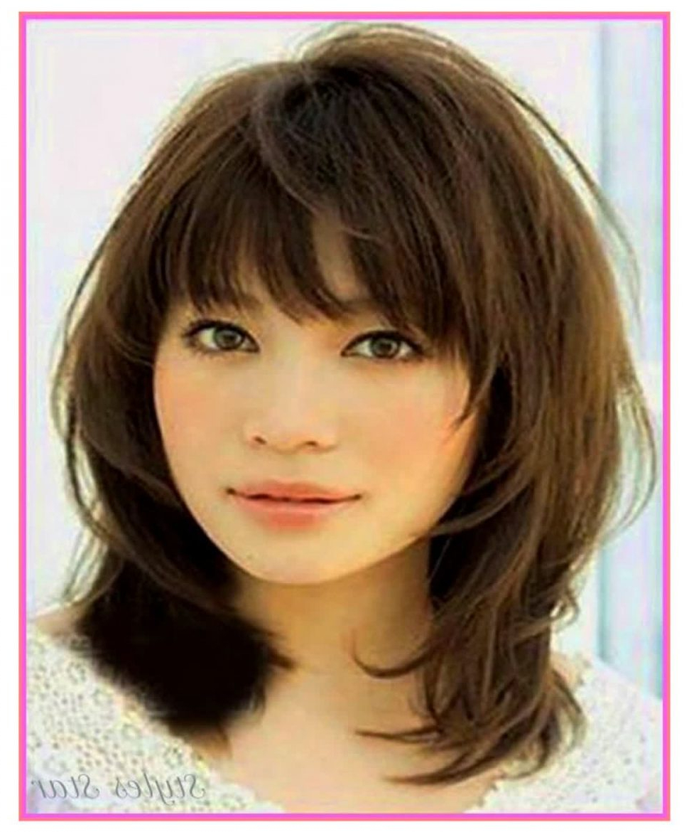 Trendy Medium Hairstyles With A Fringe In Medium Hairstyle : Womens Medium Length With Bangs For Thick Hair (View 7 of 20)