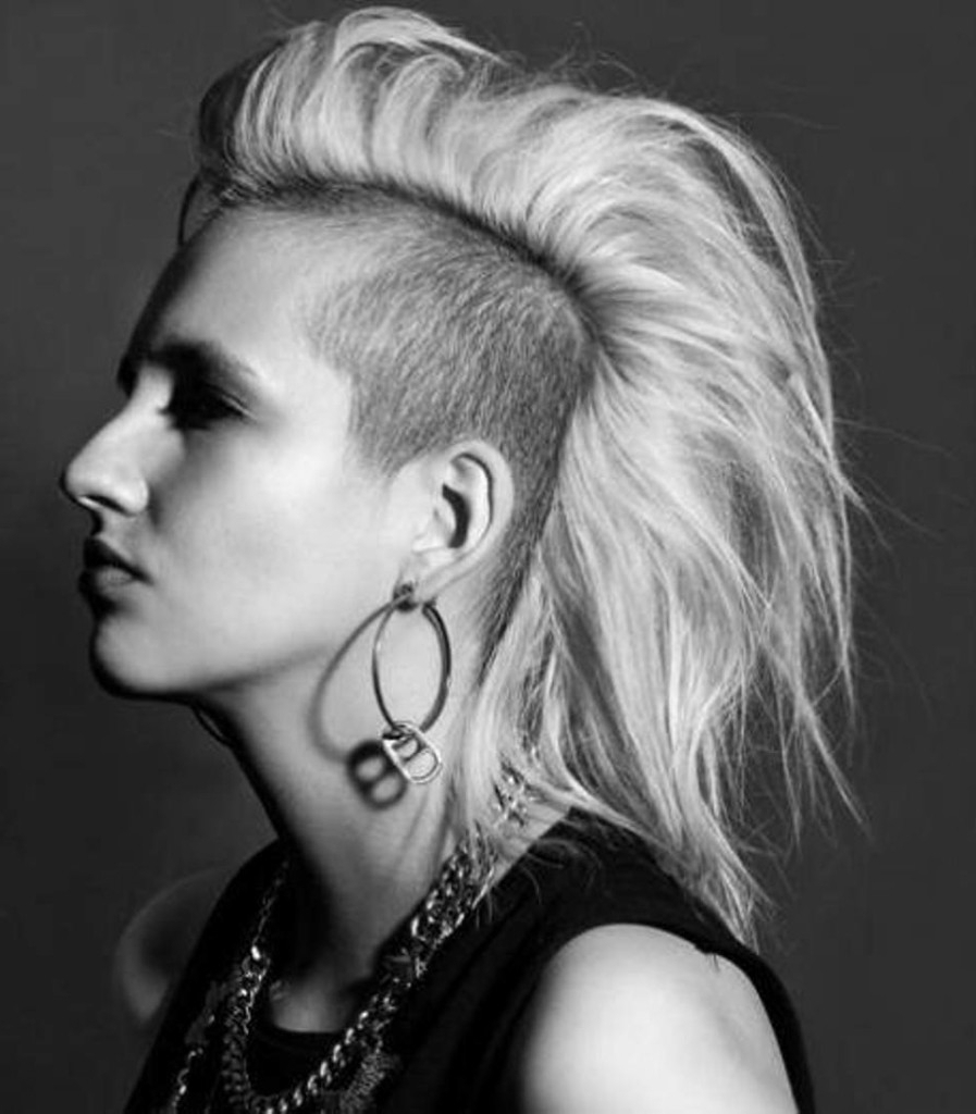Trendy Medium Hairstyles With Shaved Sides With 20 Shaved Hairstyles For Women – The Xerxes (View 12 of 20)