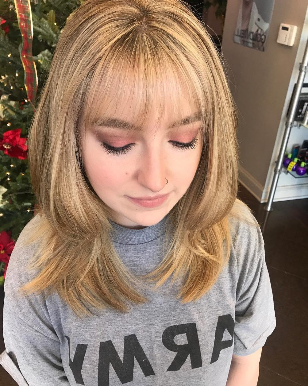 Trendy Medium Hairstyles With Wispy Bangs With 26 Sexiest Wispy Bangs You Need To Try In  (View 17 of 20)
