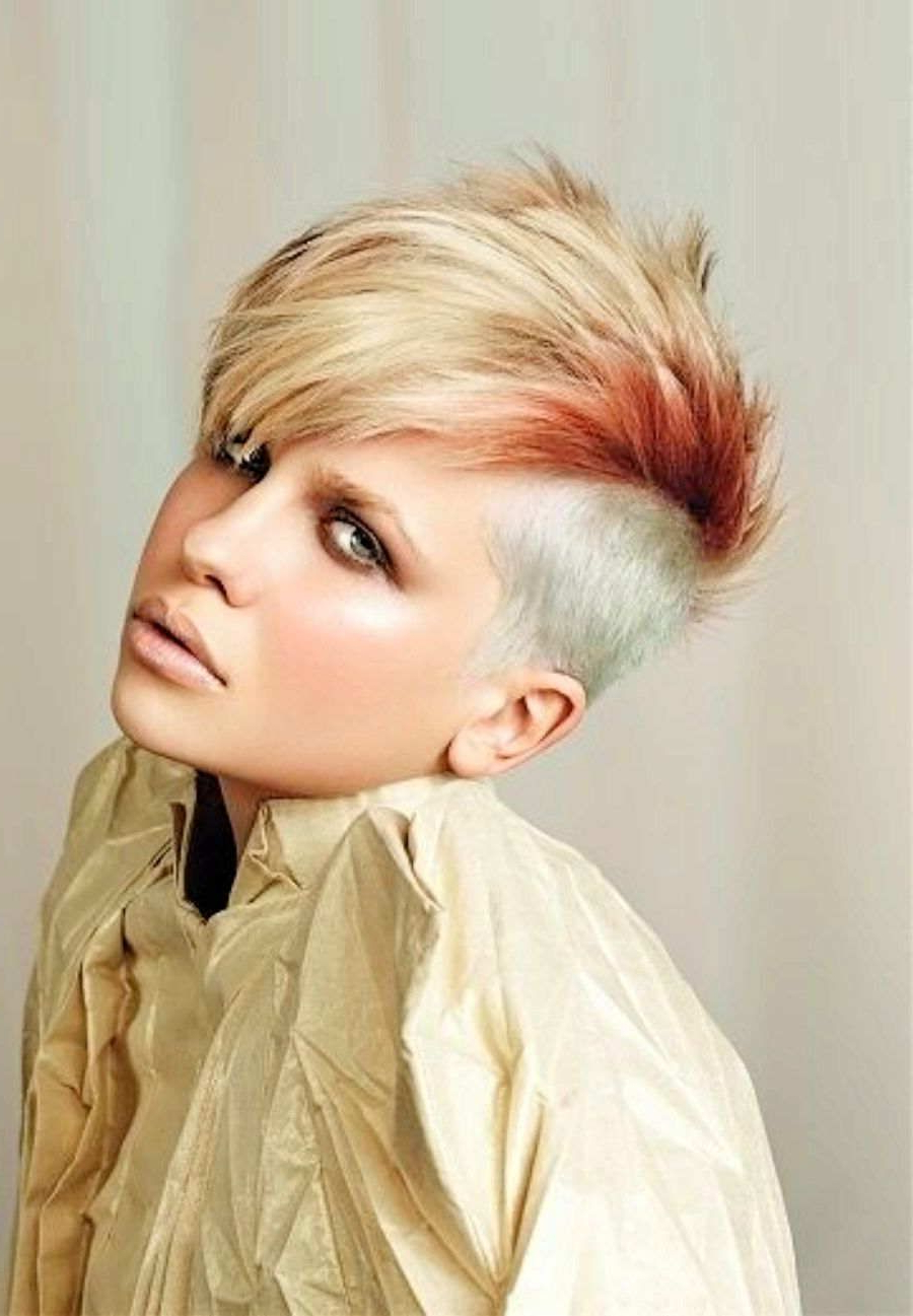 Trendy Mohawk Hairstyles With Length And Frosted Tips Intended For Women Short Mohawk Hair Styles – Mohawk Hairstyles For Women (View 18 of 20)