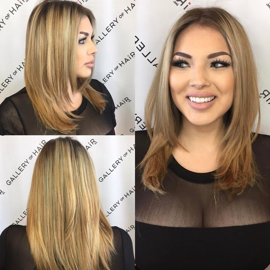 Trendy Razor Cut Medium Hairstyles For Women's Razor Cut Layered Blowout With Face Framing Layers And