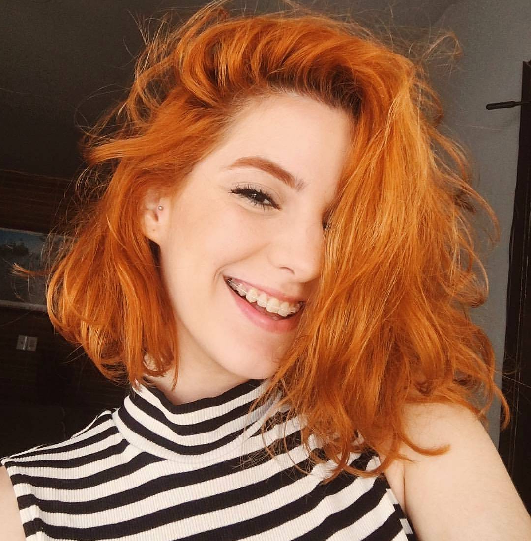 Trendy Red Hair Medium Haircuts Inside 10 Super Cute And Easy Medium Hairstyles (View 3 of 20)