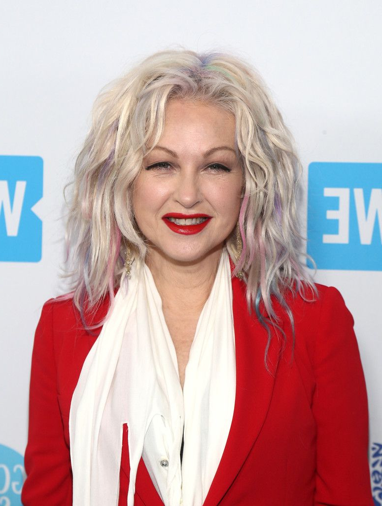 Trendy Teased Medium Hairstyles Regarding Cyndi Lauper's Teased 'do In  (View 16 of 20)