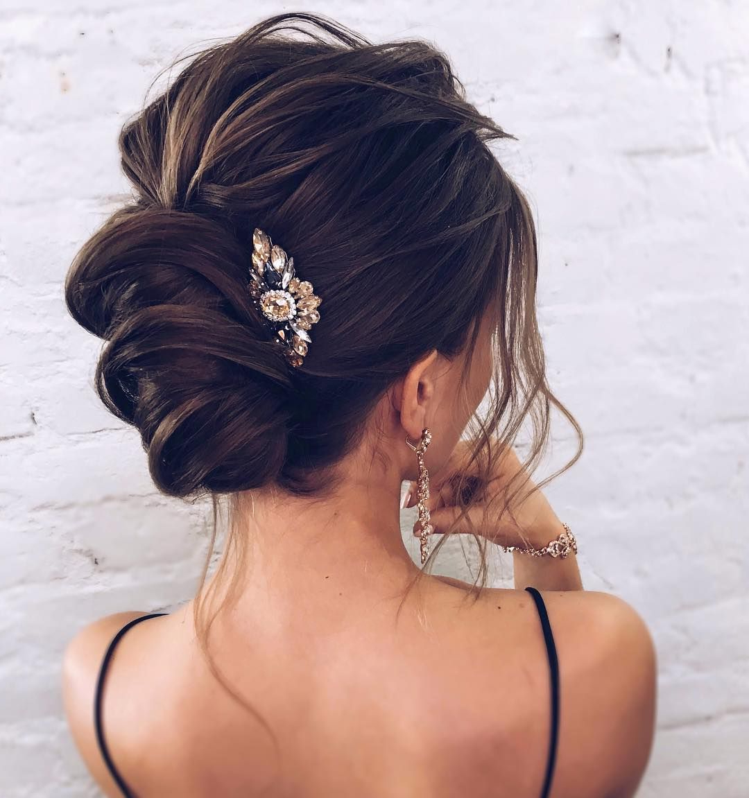 Trendy Wedding Medium Hairstyles Inside The Most Romantic Bridal Updos Wedding Hairstyles (View 14 of 20)