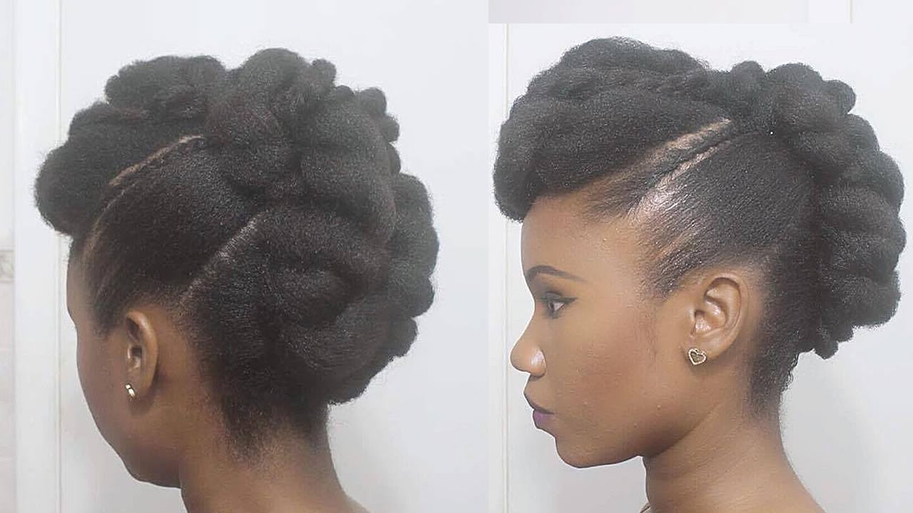 Twisted Mohawk Updo On Natural Hair – Youtube Inside Best And Newest Twist Curl Mohawk Hairstyles (View 16 of 20)