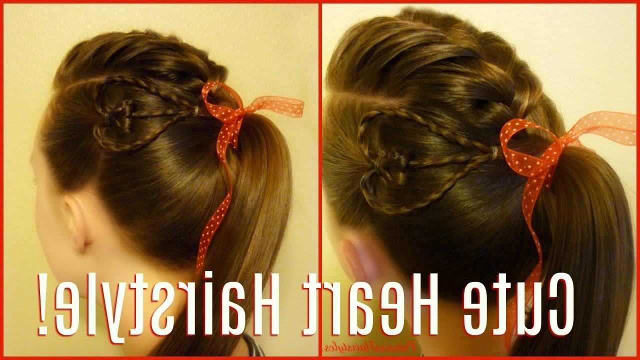 Valentine's Day Hairstyle For Teens! Faux Hawk With Heart Braid Regarding Popular Wedding Day Bliss Faux Hawk Hairstyles (View 18 of 20)