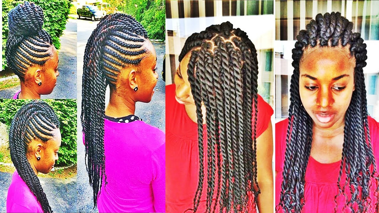 Versatile Braids And Twists Hairstyles For African American Womens Throughout Recent Versatile Mohawk Hairstyles (Gallery 17 of 20)