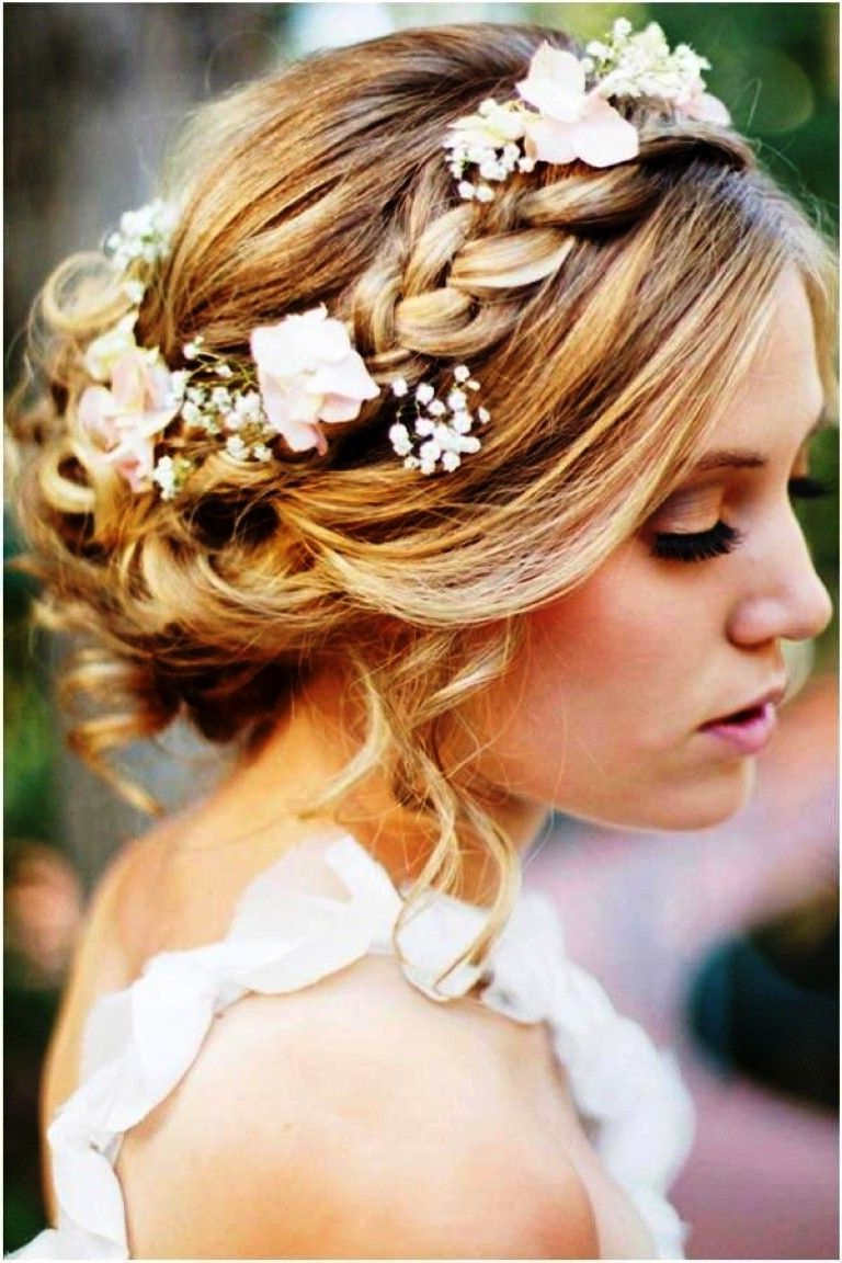Wedding Hairstyle : Wedding Hairstyles For Long Hair Half Up With Within 2018 Medium Hairstyles For Bridesmaids (View 15 of 20)