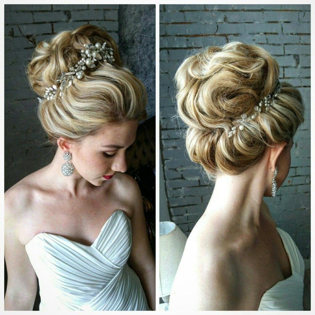 Wedding Hairstyles : Best Bride Hairstyles For Long Hair Updos Regarding Favorite Medium Hairstyles Bridesmaids (View 16 of 20)