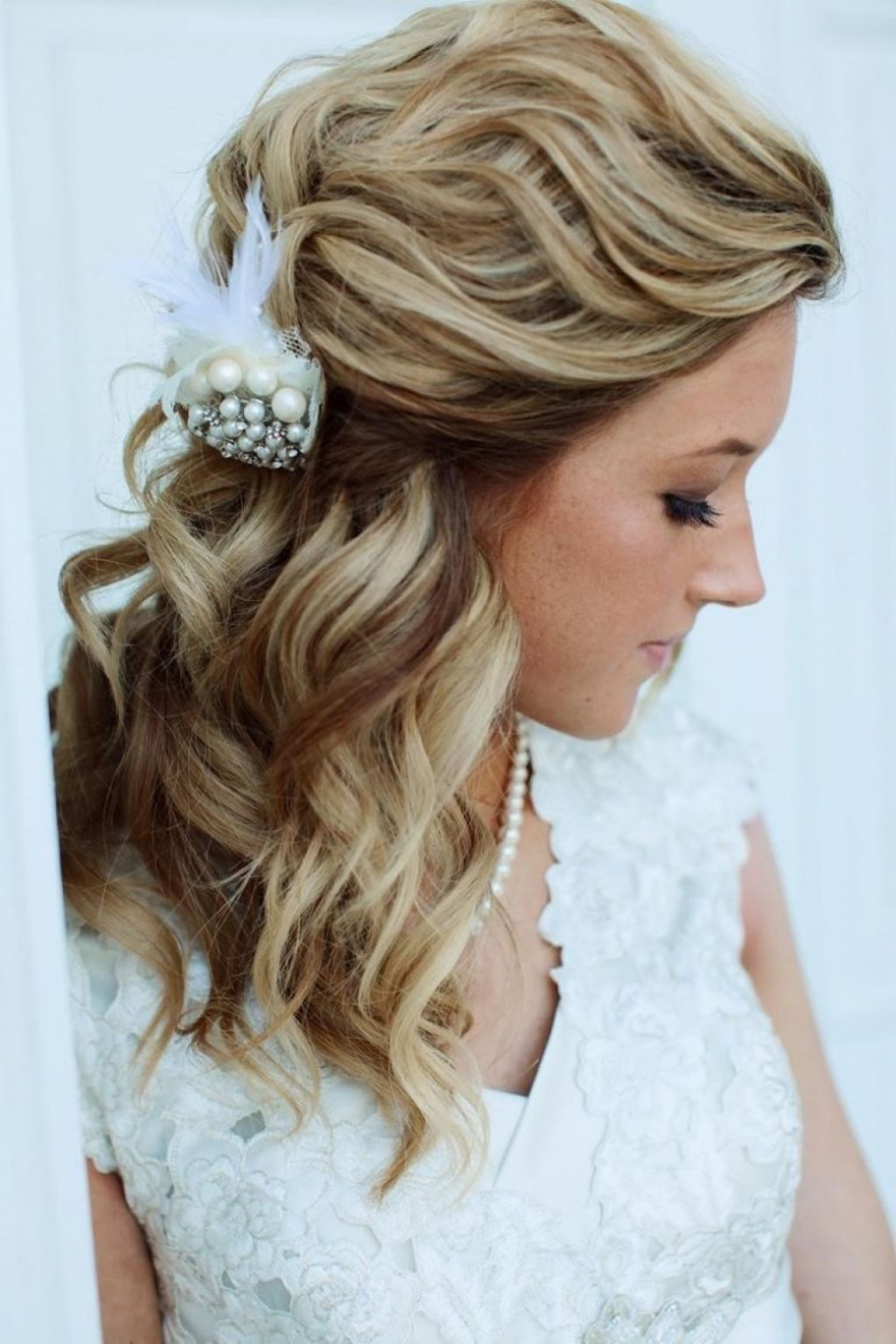 Wedding Hairstyles : Wedding Hairstyles For Long Hair Updos Pertaining To Best And Newest Wedding Medium Hairstyles (View 7 of 20)