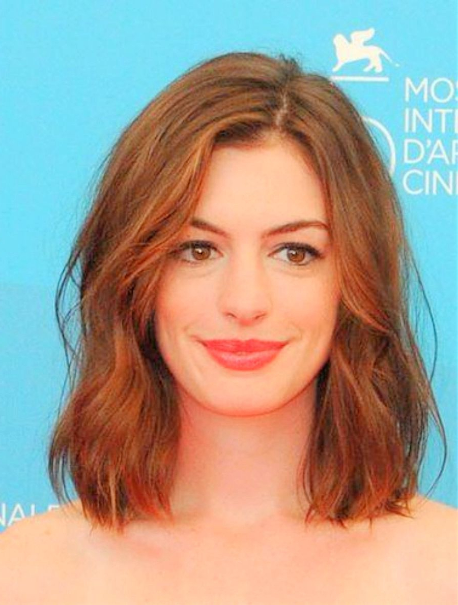 Well Known Anne Hathaway Medium Hairstyles Intended For Anne Hathaway Short Wavy Hairstyles Top Fall Hairstyles – Curly (View 19 of 20)