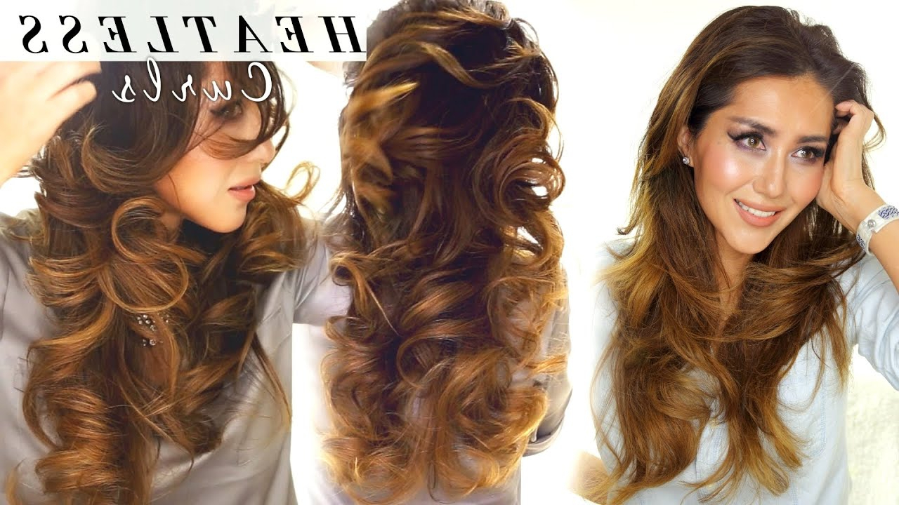 Well Known Big Curls Medium Hairstyles Throughout 2 ☆ Lazy Heatless Curls (View 8 of 20)