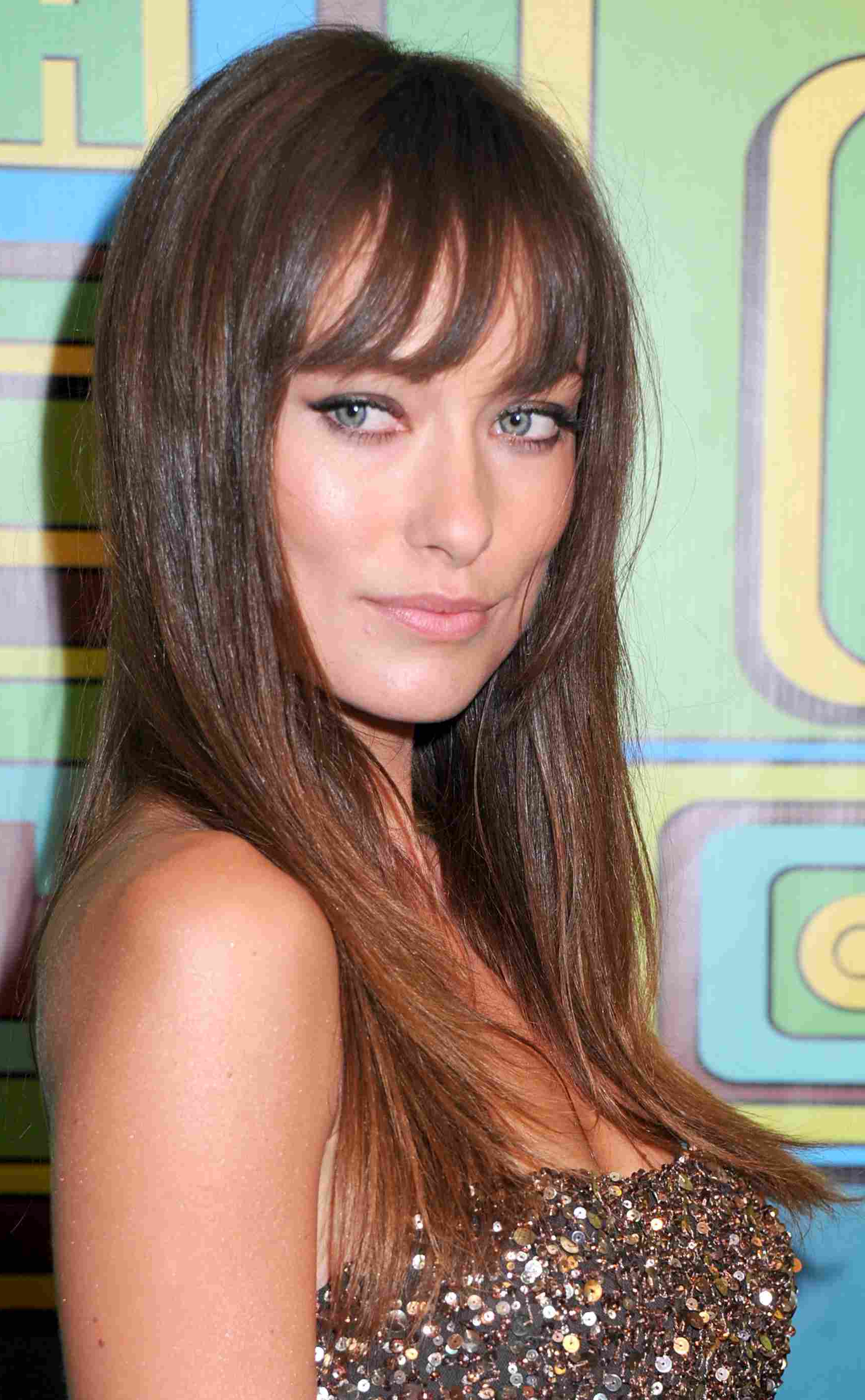 Well Known Brunette Feathered Bob Hairstyles With Piece Y Bangs Within The Best Bangs For Your Face Shape (View 14 of 20)