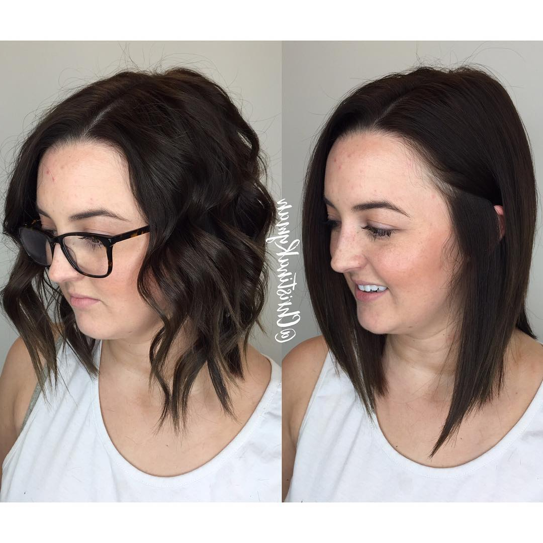 [%Well Known Choppy Medium Hairstyles For Thick Hair Intended For 30 Edgy Medium Length Haircuts For Thick Hair [October, 2018]|30 Edgy Medium Length Haircuts For Thick Hair [October, 2018] For Best And Newest Choppy Medium Hairstyles For Thick Hair%] (View 4 of 20)