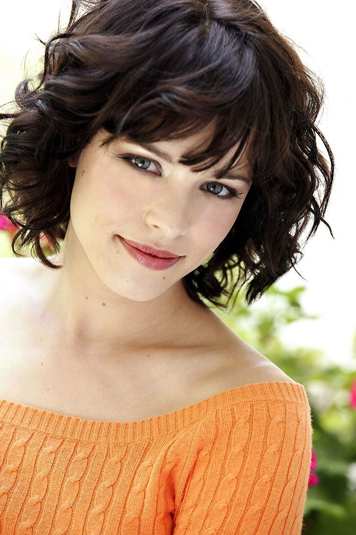 Featured Photo of Curly Medium Hairstyles With Bangs
