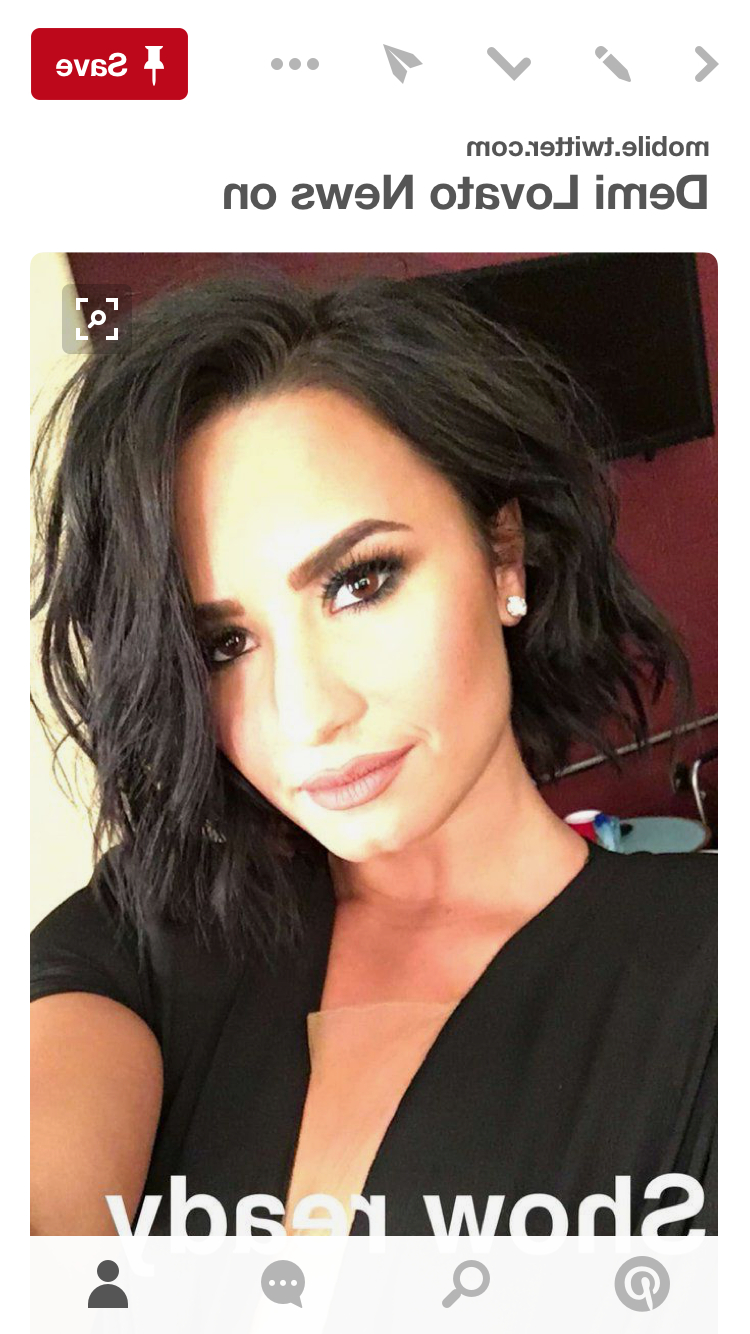 Well Known Demi Lovato Medium Haircuts Intended For Demi Lovato Cute Hair (View 18 of 20)