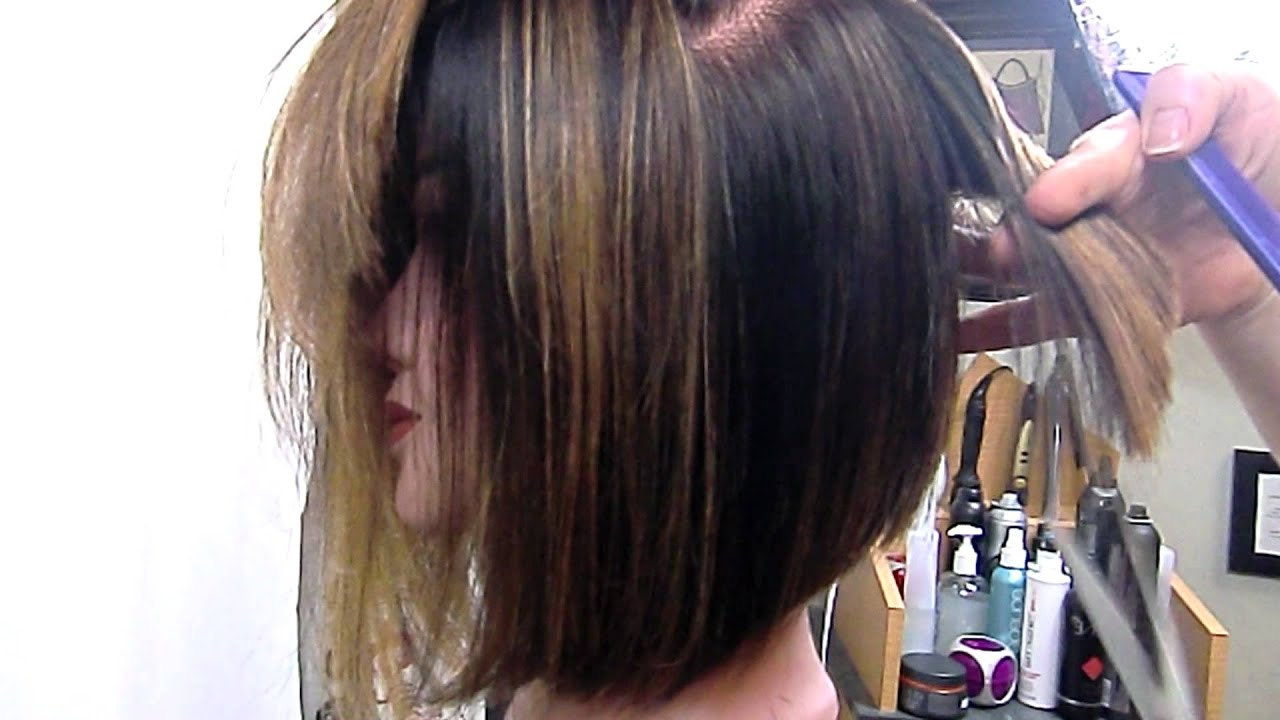 Well Known Graduated Medium Haircuts With Regard To Angled Bob Graduated And Texturized – Youtube (View 20 of 20)