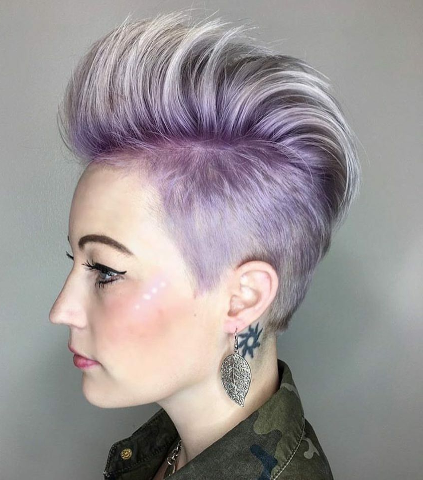 Well Known Lavender Ombre Mohawk Hairstyles With Regard To Beauty: Fantasy Unicorn Purple Violet Red Cherry Pink Yellow Bright (View 19 of 20)