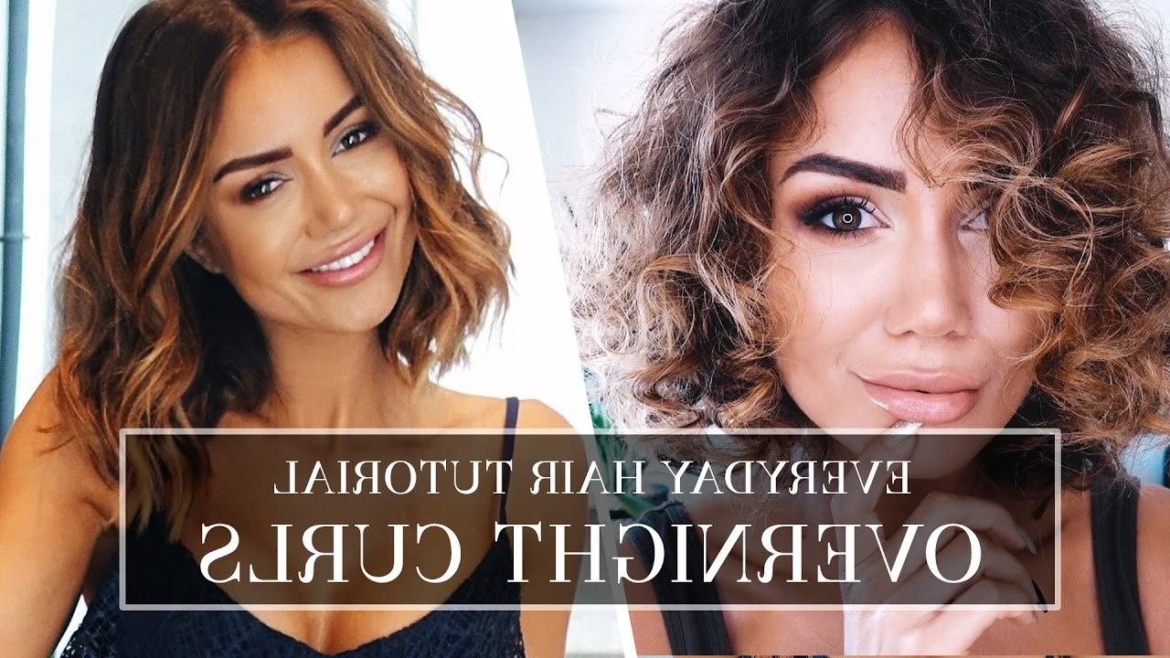 Well Known Layered Wavy Lob Hairstyles Throughout Hair Tutorial – How I Do My Curly Hair – Long Bob Hair Style (View 15 of 20)