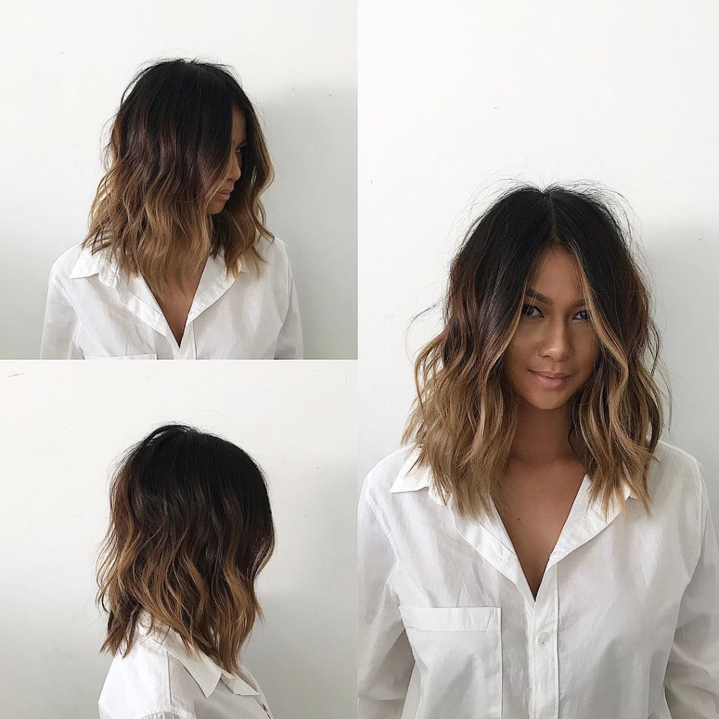 Well Known Layered Wavy Lob Hairstyles Within Women's Undone Voluminous Wavy Lob With Brunette Balayage And Soft (View 16 of 20)