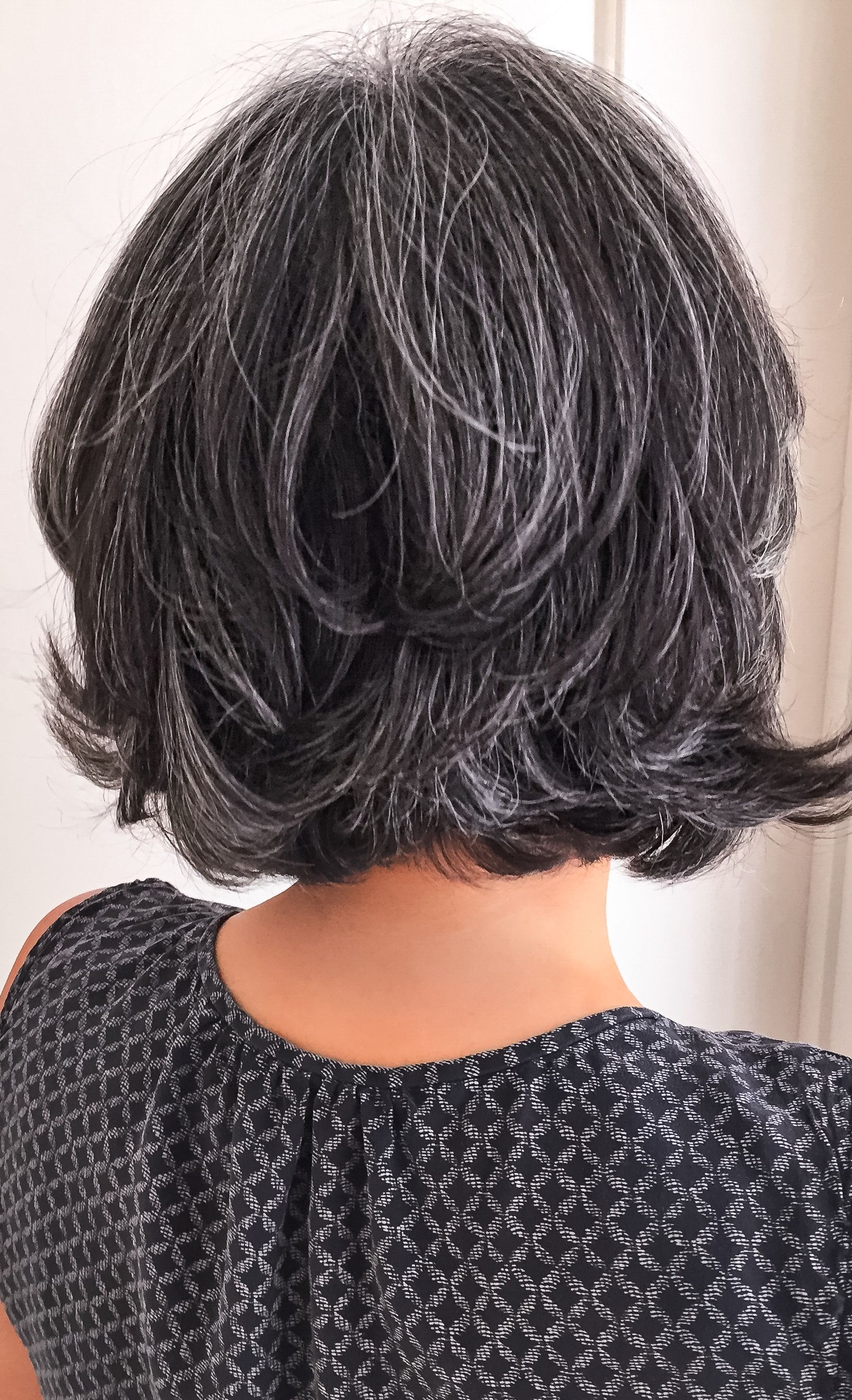 Well Known Medium Haircuts For Coarse Gray Hair Intended For Short Salt And Pepper Gray Hair. Silver Hair. White Hair (View 15 of 20)
