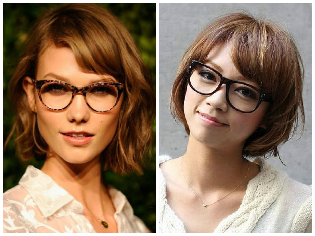 Well Known Medium Haircuts With Bangs And Glasses With Regard To The Best Short Hairstyles To Wear With Glasses – Hair World Magazine (View 7 of 20)