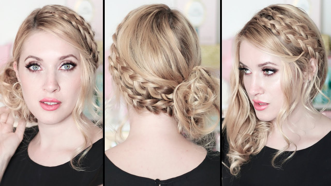 Well Known Medium Hairstyles For A Party Intended For Prom/wedding/party Hairstyles: Braided Side Swept Curls ☆ Medium (View 18 of 20)