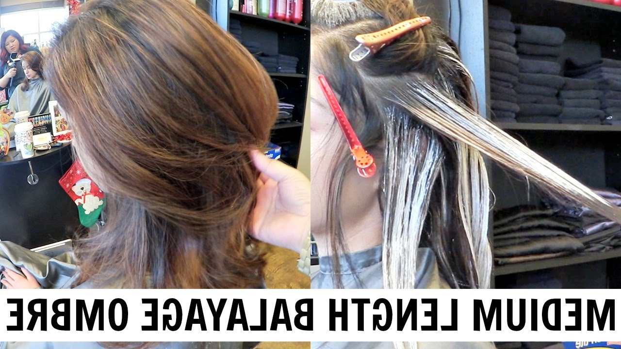 Well Known Medium Hairstyles With Balayage Inside Hellocindee – Balayage Paneling Tutorial For Medium Length Hair (View 17 of 20)