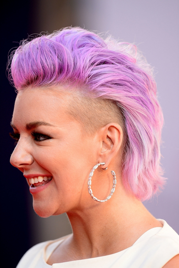 Well Known Pink And Purple Mohawk Hairstyles For 25+ Faux Hawk Hairstyle Designs, Ideas (View 18 of 20)