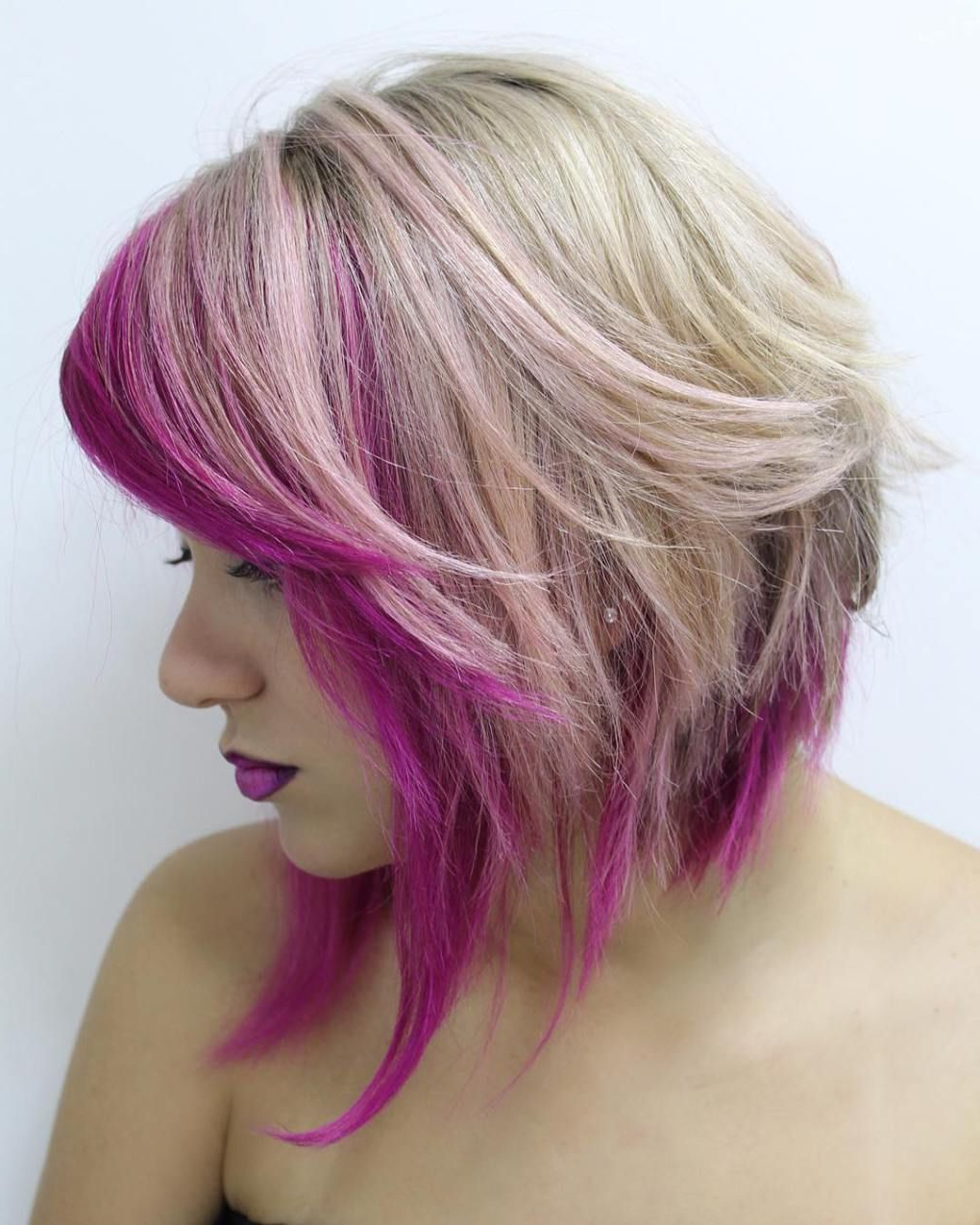Well Known Pink Medium Haircuts Pertaining To 50 Best Variations Of A Medium Shag Haircut For Your Distinctive (View 20 of 20)