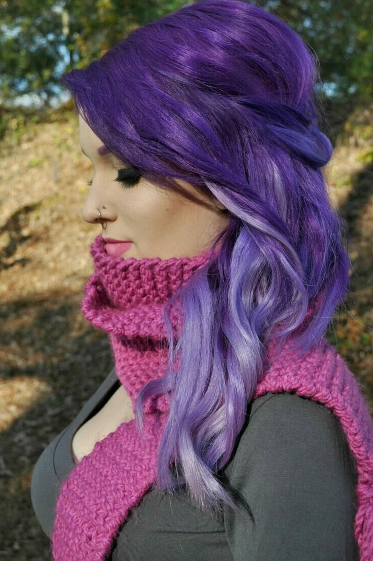 Well Known Purple And Black Medium Hairstyles With 17 Stylish Hair Color Designs: Purple Hair Ideas To Try! – Popular (View 17 of 20)
