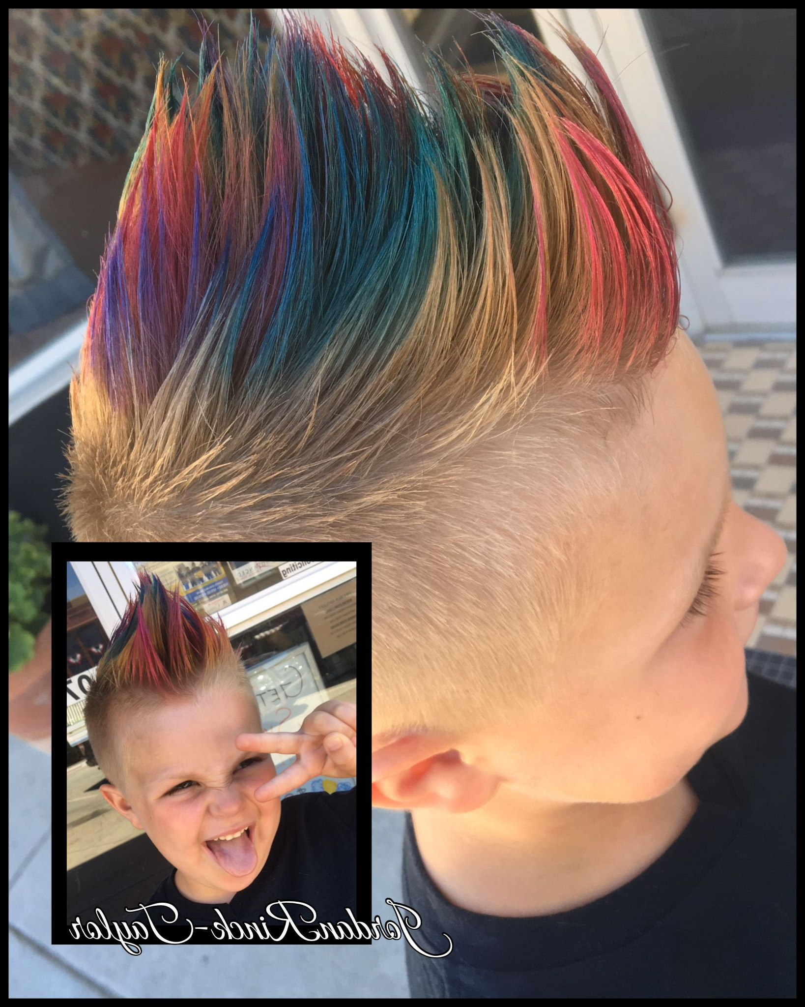 Well Known Rainbow Bright Mohawk Hairstyles For Rainbow Mohawk. Kids Haircuts (View 18 of 20)