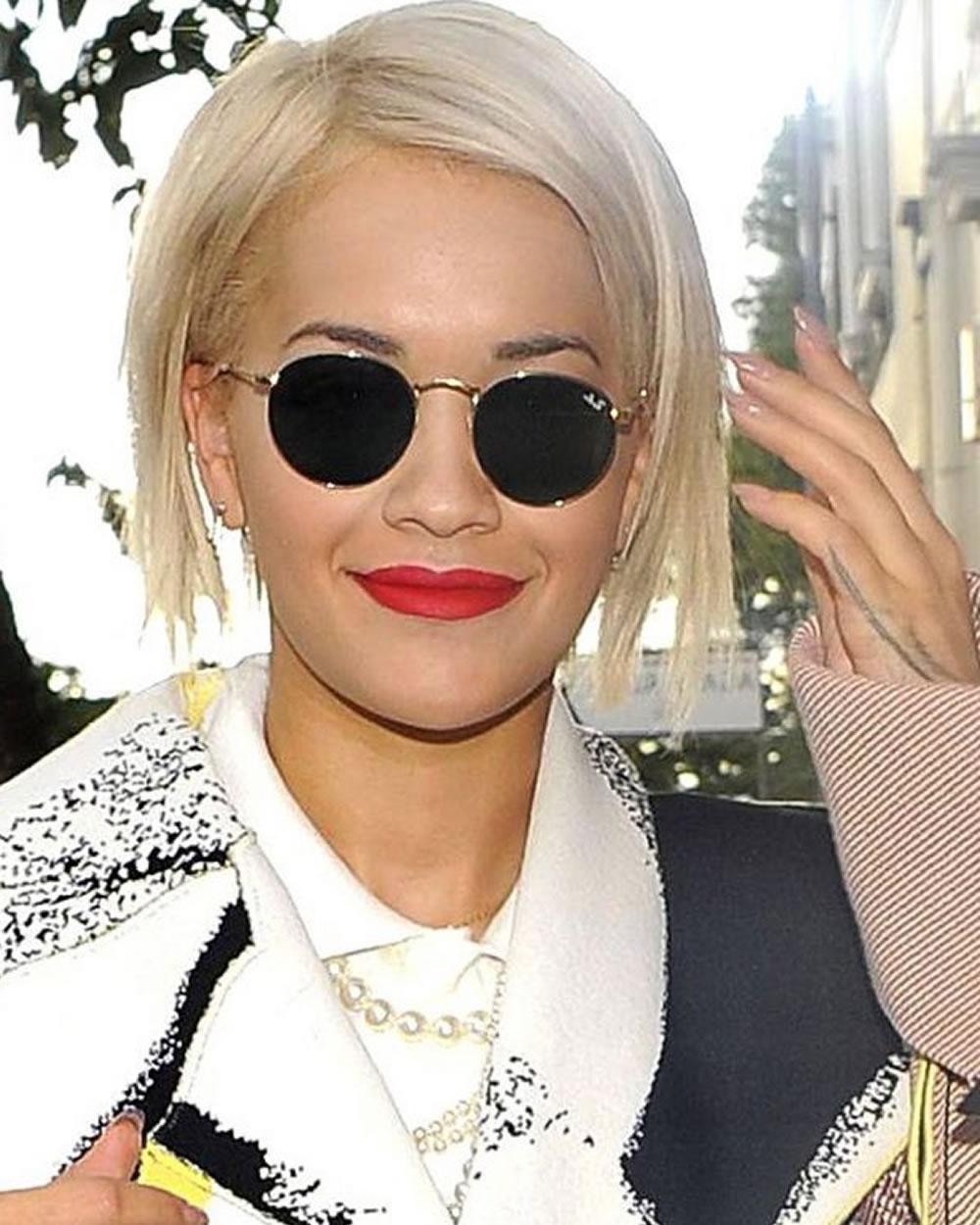 Well Known Rita Ora Medium Hairstyles Pertaining To Rita Ora's Short Hairstyles (Pixie + Bob) For  (View 19 of 20)